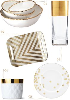 gold dinnerware | for the love of design