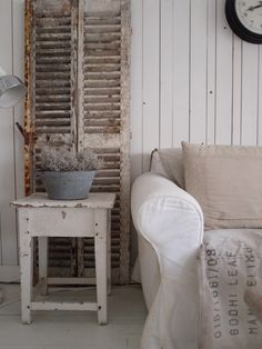 Vintage shutter used as room decore...