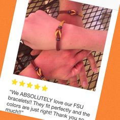 First sportsfan Celtic love knot leather bracelet review! A family of 3 FSU fans are happy campers, and so is Sirious Design!