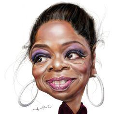Oprah Winfrey by  Chia-hui Liu at irancartoon.ir