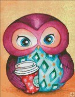 I love that she's clutching a Starbucks Xmas cup - must be eggnog latte! ;-> Annya Kai 2013 for Heaven and Earth Designs QS Autumn Owl [KAIQS101] - $5.85 : Heaven And Earth Designs, cross stitch, cross stitch patterns, counted cross stitch, christmas stockings,...http://heavenandearthdesigns.com/index.php?main_page=product_info&cPath=604_87_95&products_id=10179