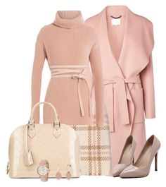 Sweater3 by doramoleiro on Polyvore featuring polyvore, fashion, style, Valentino, L.K.Bennett, MARC CAIN, WithChic, Louis Vuitton, Anne Klein, Anne Sisteron, clothing and pinkSweater