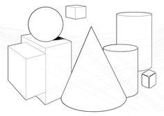 +opdracht vorm:Geometrische basisvormen 3d. Uitprinten en vervolgens teken je er drie vormen bij zodat er een goede compositie ontstaat.