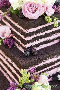 Naked Wedding Cake Design by Cassidy Budge - Cassidy Tuttle Photography