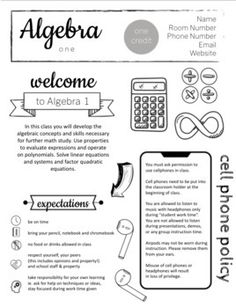 Math syllabus for all classes - just edit to meet your own needs and use for all your courses! I've included some course information to get you started. Algebra, Algebra 2, Algebra 3, Geometry, Trig, Consumer Math, Calculus.Now easy to edit in google slides.Check out adding the COVID Physical Distan... Maths Algebra, Calculus, Maths Syllabus, Syllabus Template, Consumer Math, Website Names, Teacher Newsletter, Life Skills, Geometry