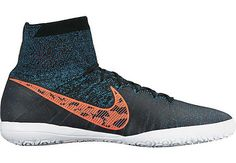 Nike Elastico Superfly Indoor Shoes - Black and Blue Lagoon...get yours before they all sell out, shop SoccerPro now!