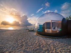 Bubble hotels are popping up all over the world. From bubble lodges in Mauritius and beach domes in Mexico to eco-friendly orbs in the Maldives, we've rounded up some of the best. Baja California, Design Hotel, Mauritius, Maldives, Ibiza Hotel, Hotel Suites, Bubble Tent, Ice Hotel, Dreams