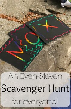 The name scavenger hunt is perfect for kids (and family get togethers!)