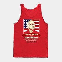 Larry David For President - Mens Tank Top