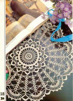 Decorative Crochet Magazines 2 - Gitte Andersen - Álbuns da web do Picasa Crochet Doily Diagram, Crochet Chart, Thread Crochet, Crochet Motif, Lace Knitting, Crochet Doilies, Crochet Flowers, Crochet Stitches, Crochet Round