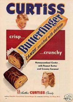 Still my absolute favorite!  Curtiss Butterfinger Candy Bar (1953)