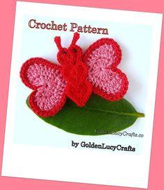 Butterfly Applique Crochet Pattern | Craftsy
