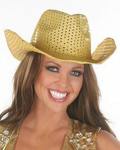 Gold Glitter Cowgirl Hat