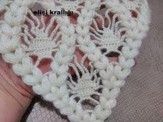 The construction of a pistachio dowry shawl model - Harika El işleri-Hobiler Crochet Lace Edging, Freeform Crochet, Crochet Shawl, Knit Crochet, Crochet Stitches Patterns, Stitch Patterns, Crochet Home, Free Crochet, Crochet Videos