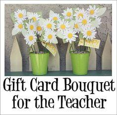 gift card bouquet for teachers