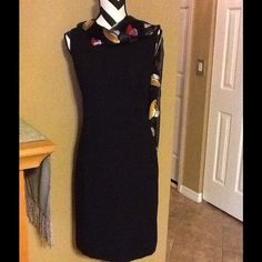 LAURA SCOTT DESIGNER BUSINESS LOOK DRESS GORGEOUS DESIGNER KARAN SCOTT VERY BUSINESS LOOK, BRAND NEW JUST HAVE NO TAGS, BLACK, DRESSY, EXCELLENT CONDITION, GREAT FOR,WORK,TRAVEL,MEETINGS,GATHERING,CHURCH INTERVIEWS, PARTY, SMOKE FREE HOME,  BELT NOT INCLUDED OR SCARF... Laura Scott Dresses