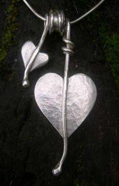 Heart leaf necklace http://www.silverandstone.co.uk/html/silver_heart_leaf_necklace_07.html