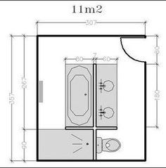 18 bathroom plans from 5 to 11 discover our free plans Bathroom Layout, Modern Bathroom, Master Bathroom, Small Bathrooms, Bathroom Ideas, Bad Inspiration, Bathroom Inspiration, Bathroom Floor Plans, Casa Clean