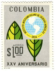 Colombia postage stamp: OEA . 1967