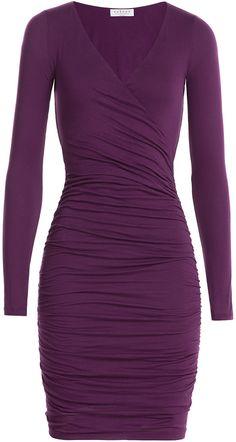 Velvet Draped Cotton Dress