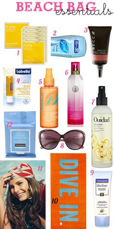 think i'll do sunscreen, lip balm, and airplane bottles in the beach tote bags with the beach towels