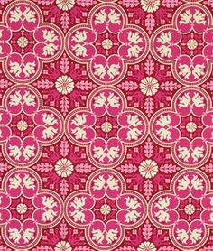 Joel Dewberry Historic Tile Plum Fabric $9 yd