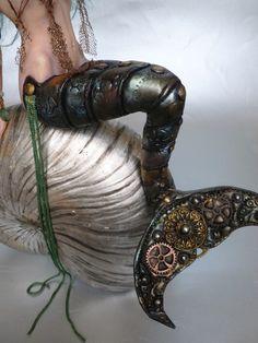 OOAK Steampunk Mermaid Fairy Pin Up Art Art Doll Fantasy Sculpture by K J | eBay