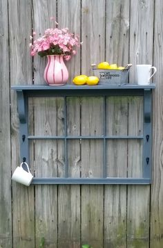 How to make this easy window shelf in an afternoon. MyRepurposedLife.com