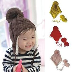 Pattern inspiration for knit ear flap baby hat