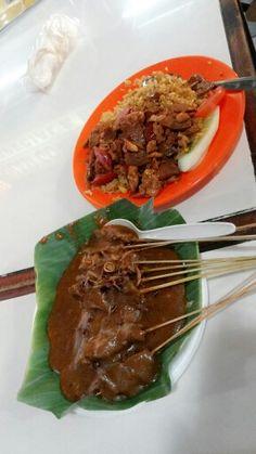 Indonesia Food, sate padang and Nasi Goreng Gila