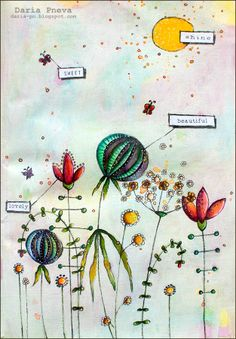 Mixed-media collage. Size A4. I've made it based on Danielle Donaldson online course. I love this course very much!!! Details on blog. http://daria-pn.blogspot.ru/2014/04/blog-post_30.html