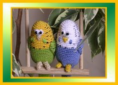 Crocheted Budgies