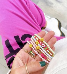 Ear Jewelry, Trendy Jewelry, Summer Jewelry, Cute Jewelry, Beaded Jewelry, Jewelery, Jewelry Accessories, Fashion Jewelry, Preppy Bracelets