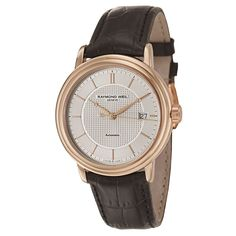 Raymond Weil Maestro Automatic Date Rose Gold PVD Coated Strap Men's Watch