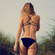 LOVE the back on the top! >>> KnotBack Bikini by calaossidiana on Etsy, $185.00
