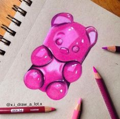 Super cool art drawings how to paint 30 ideas Easy Disney Drawings, Art Drawings Sketches Simple, Pencil Art Drawings, Realistic Drawings, Colorful Drawings, Easy Drawings, Drawing Ideas, Drawing Art, Bear Drawing
