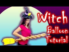 WITCH COSTUME Balloon Animal Tutorial - Learn Balloon Animals with Holly! - YouTube Balloon Crown, Balloon Hat, Balloon Crafts, Balloon Animals, Balloon Arch, Balloon Ideas, Halloween Balloons, Halloween Party, Balloon Template