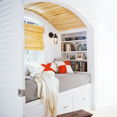 Gain extra accommodations for overnight guests with a window seat sized for a standard twin mattress (39 by 75 inches). | Photo: Jennifer Cheung/Getty Images thisoldhouse.com |