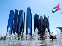 A beautiful view of Etihad Towers from Emirates Palace, Abu Dhabi
