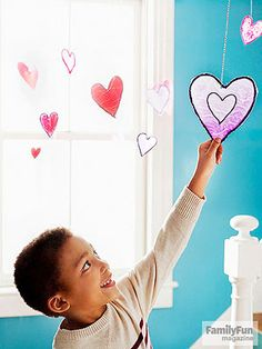 Have a Heart: Here's a creative project where a little waiting has a big payoff: kids use colored glue to create glasslike suncatchers that really shine.