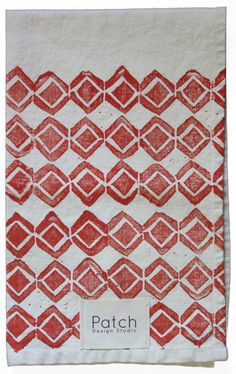 Diamonds Dish Towel from Patch design studio. Hand printed in the USA.