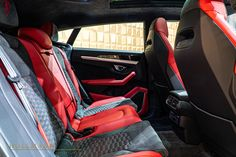 Inside Car, Rear Differential, Luxury Suv, Brake Calipers, Red Paint, Rear Seat, Lamborghini, Germany, Vehicles