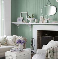 Interior by Color http://www.interiorsbycolor.com/ loves Farrow & Ball Chappell Green (although this paint color is called green, it has plenty of blue in it, creating a sort of greenish eggshell shade). Use this color in a room that is flooded with light so that it doesn't become too overwhelming. Great color for walls and also…