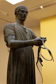 Charioteer of Delphi Bronze, 474 BCE.