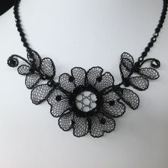 Gallery | Lenka's Way of Lace Bobbin Lacemaking, Silk Ribbon, Collar Necklace, Shibori, Textiles, Handmade Jewelry, Style Inspiration, Embroidery, Crafts