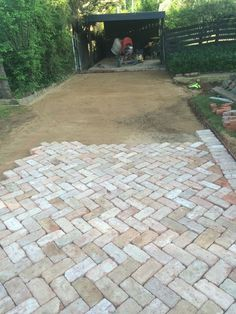 Outdoor Patio Pavers Near Me.Lowes Pavers Patio Home Decor Round Stepping . Techo Bloc Paver Walkway In Progress Outdoor Living . Techniseal: How To Apply A Water Based Wet Look Paver . Outdoor Patio Pavers, Brick Paver Patio, Casa Patio, Paver Walkway, Diy Patio, Backyard Patio, Backyard Landscaping, Patio Steps, Paver Patio Designs
