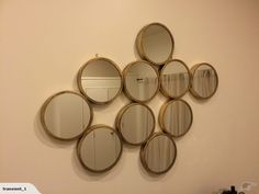 Large brass coloured mirror   Trade Me