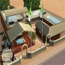 """Die Ambiente dieses Schwimmbades lässt keine Verwöhnwünsche offen. """"Erholung pur"""" bietet alles, was die Sims brauchen, um sich ein bisschen zu entspannen und um den Alltagsstress zu entfliehen."""