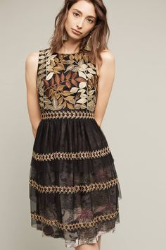 Embroidered Vigne Dress