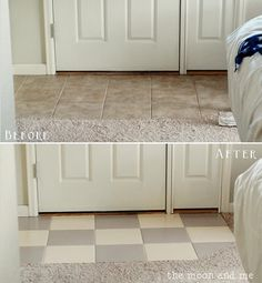 Flooring Painting Tile Tips For Installing Laminate Flooring. Bathroom Remodel DIY Or Hire A Pro HomeAdvisor. Home and Family Painting Tile Floors, Painted Floors, Tile Flooring, Kitchen Flooring, Paint Tiles, Tiled Floors, Painting Linoleum, Plywood Floors, Laminate Flooring